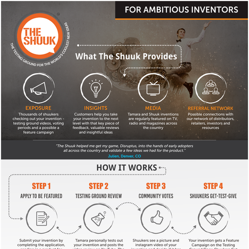 One Page Infographic for the Shuuk