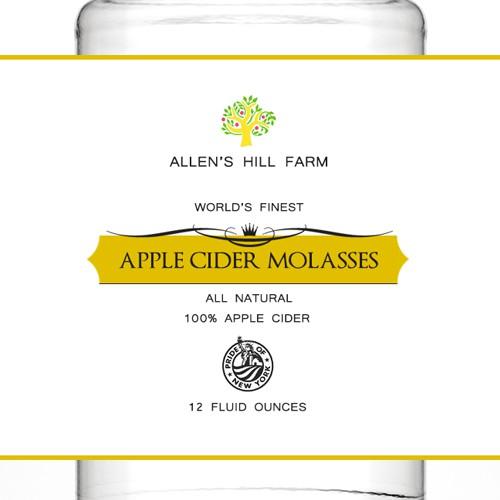 Apple Cider Molasses label