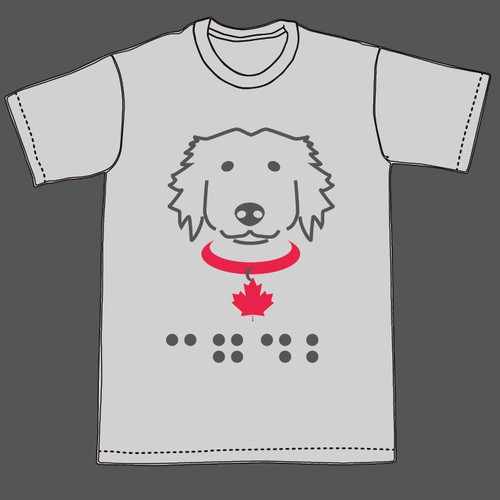 t-shirt design for Canadian Guide Dogs for the Blind