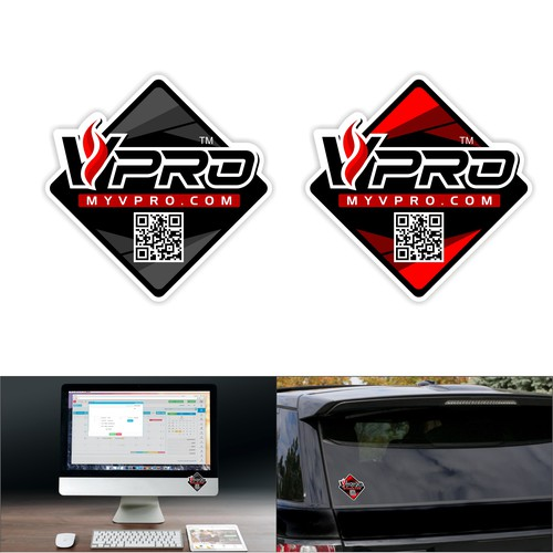 V-Pro sticker design