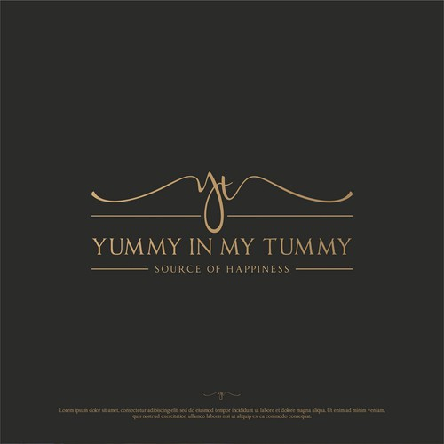 Yummy In My Tummy Logo Concept