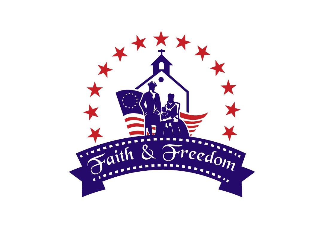 Patriotic logo for Faith & Freedom Family Films