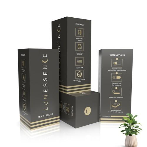 Lunessence Mattress Shipping Box