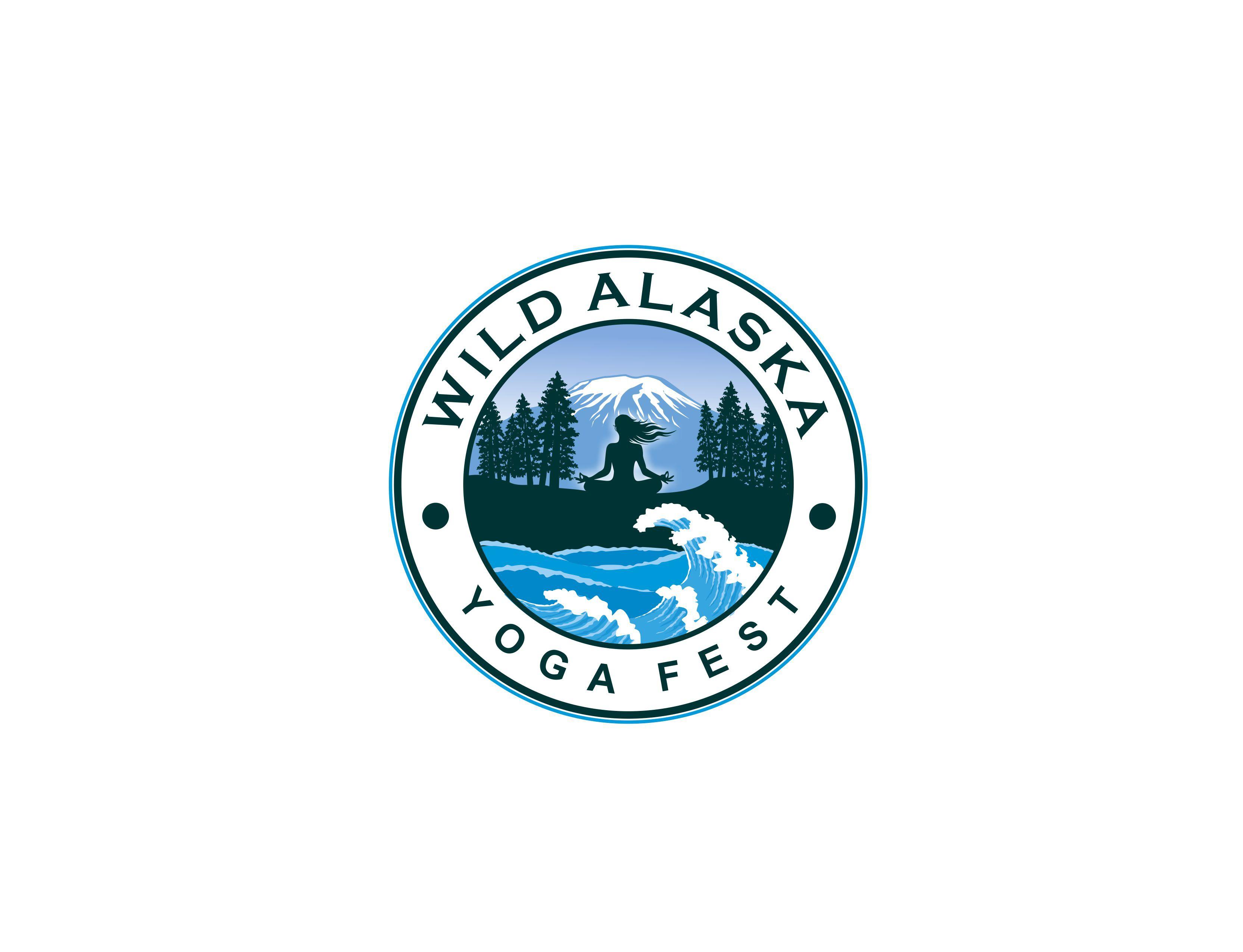 Create a  wild yogi/s in an alaskan setting, ocean, island, waves, wind