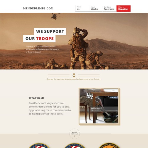 a website to support american troops