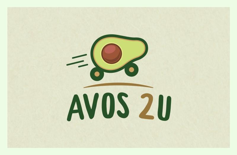 """Design a F R E S H, modern logo for avocado farm: """"Avos 2U"""""""