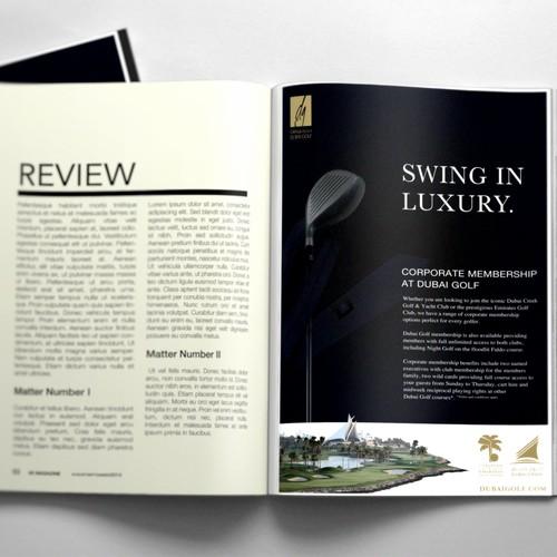 Magazine Advertisement for Luxury Golf Company