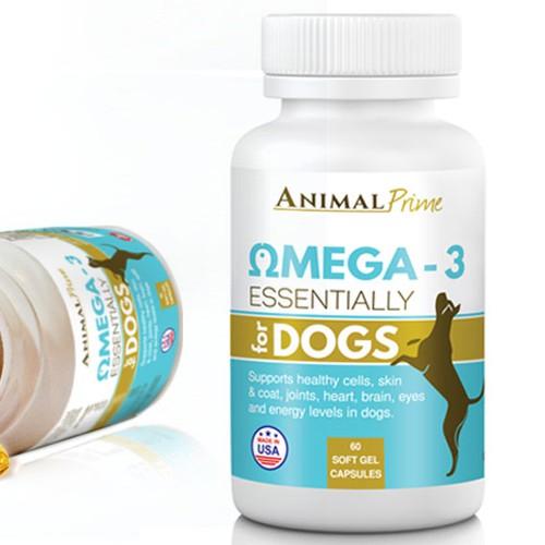 Pet supplement label, Amazon listing image