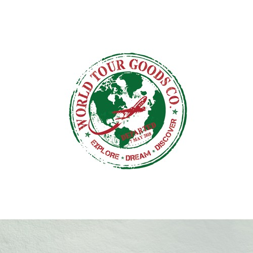 Stamp style winning logo design