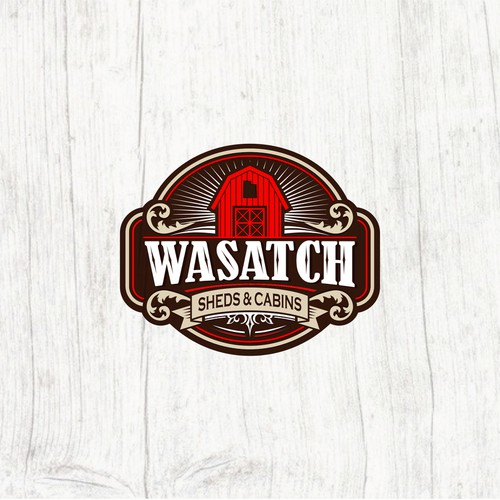 Classic logo concept for Wasatch Sheds & Cabins
