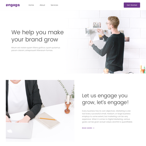 Homepage Concept for Digital Marketing Website