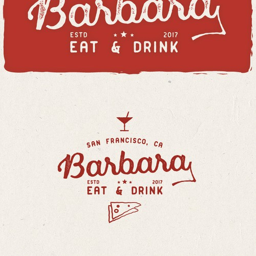 Logo for a cocktail bar and pizzeria