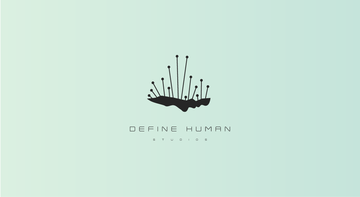 Create an elegent and thought provoking Sci-Fi/Cyborg Logo for Define Human Studios game dev company