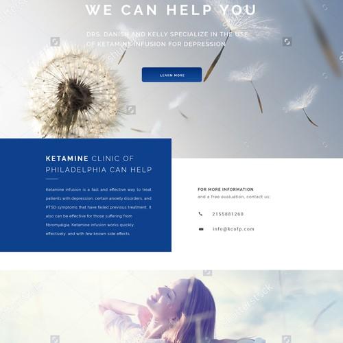 Clean & Modern Clinic Website Design