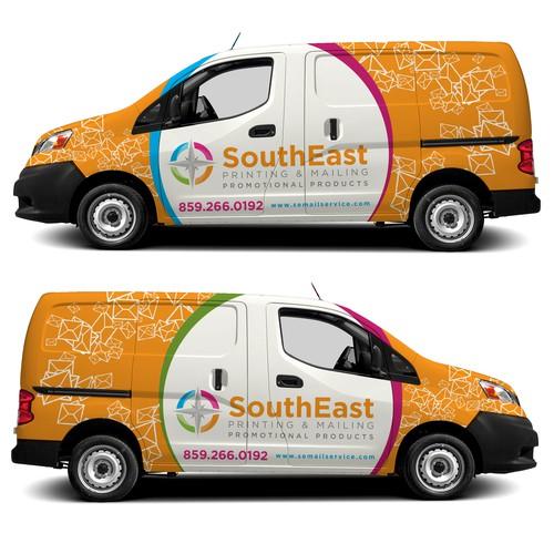 Printing & Mailing company Van Wrap