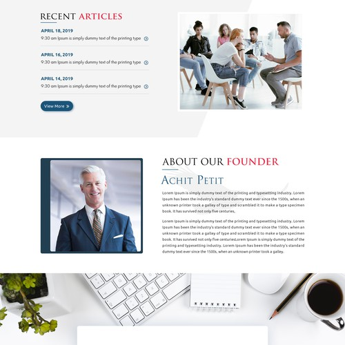 Modern website for an Education and Leaning services company