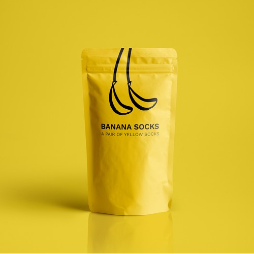 simple yet playfull packaging for socks