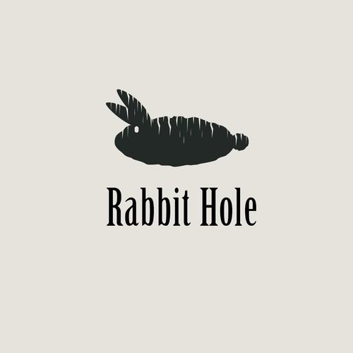 Rabbit hole logo concept.