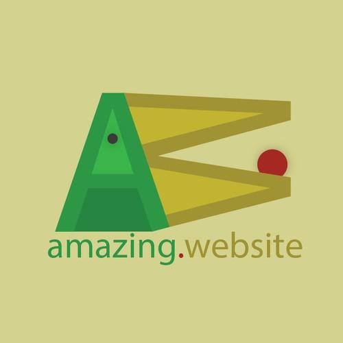 Simple logo for 'amazing.website'