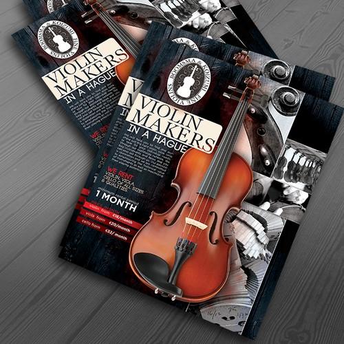 Violin Flyer design