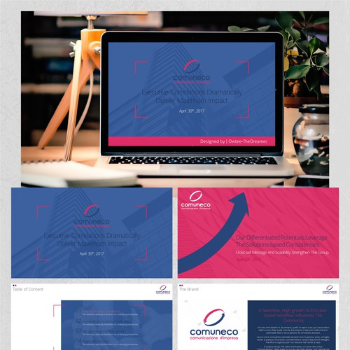 "PowerPoint Design for the ""Comuneco"" Project."