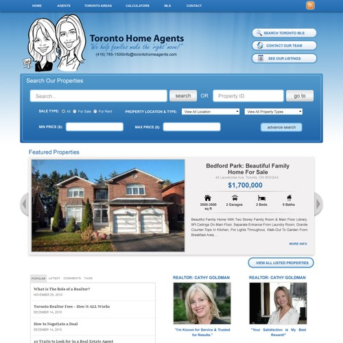 Easy Real Estate Agent Wordpress Design