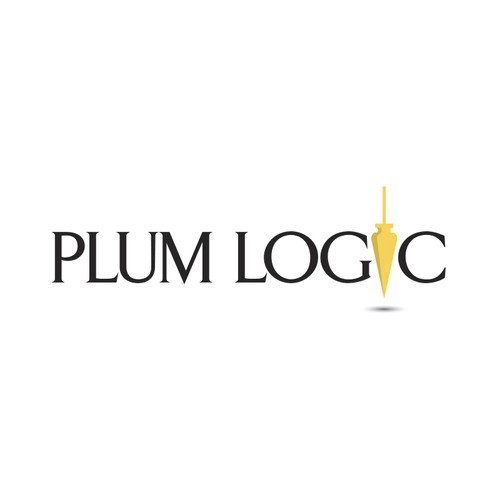 Create a simple and elegant logo for Plum Logic (possibly involving a plum and construction themes)