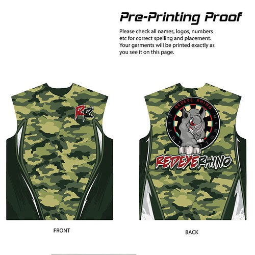 Professional Camo Darts Jersey