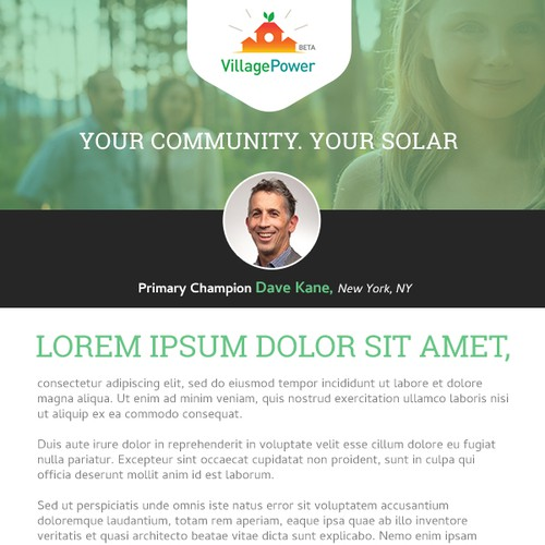 Village Power Email/Newsletter Template