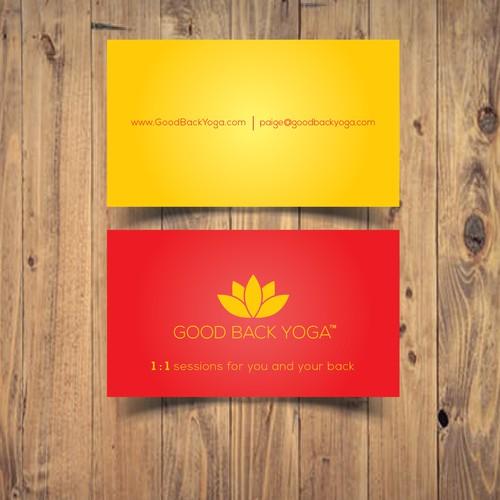 Creative Business Card for GOOD BACK YOGA