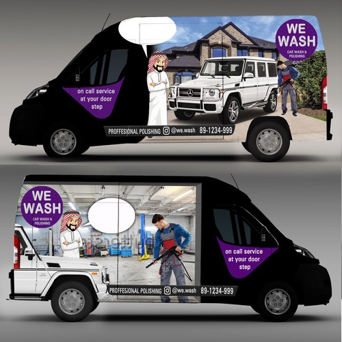 Van wrap for we wash