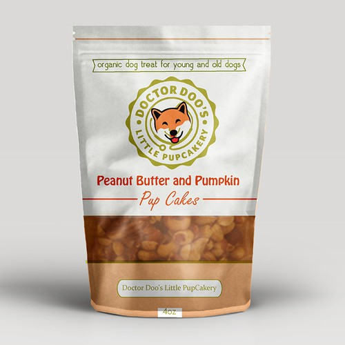Packaging-Peanut Butter and Pumpkin Pup Cakes