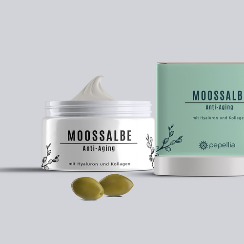 Packaging concept for anti-aging cream