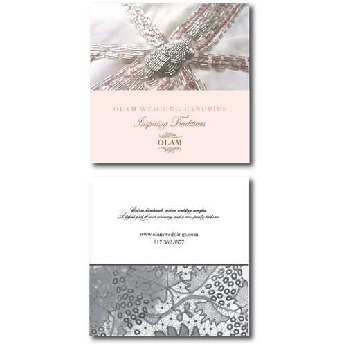 Elegant marketing card for wedding canopies