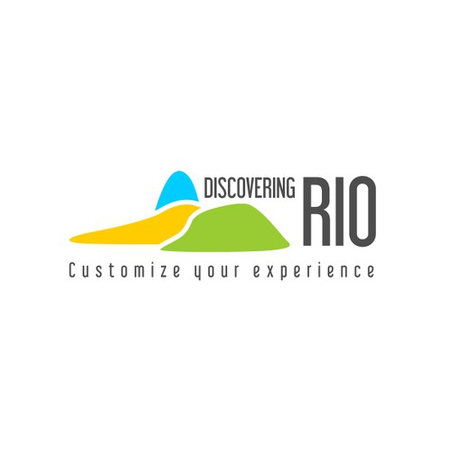 minimalist and simple logo for tour info site Discovering Rio