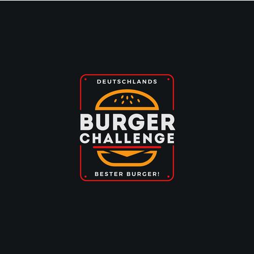 Burger Challenge Bold & Vibrant Logo