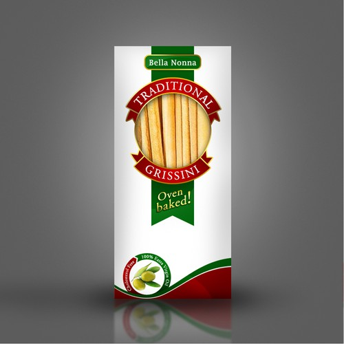 Create a eye catching package of Traditional style Italian Grissini (Breadsticks)
