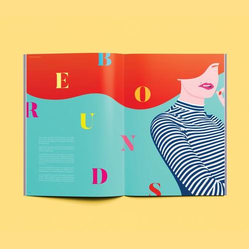 W Editorial Illustration