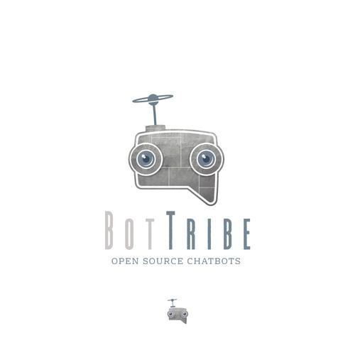 Robot logo for chat bot startup