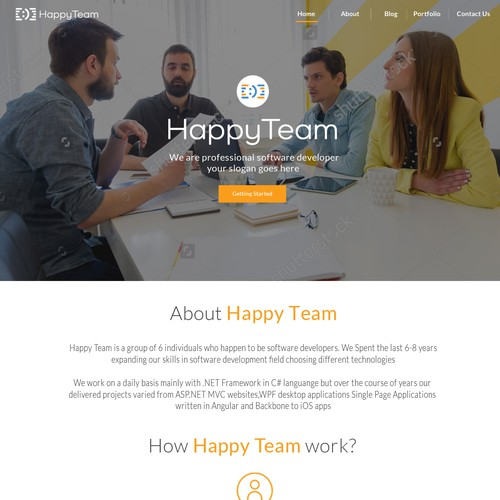 Website Concept for Happy Team