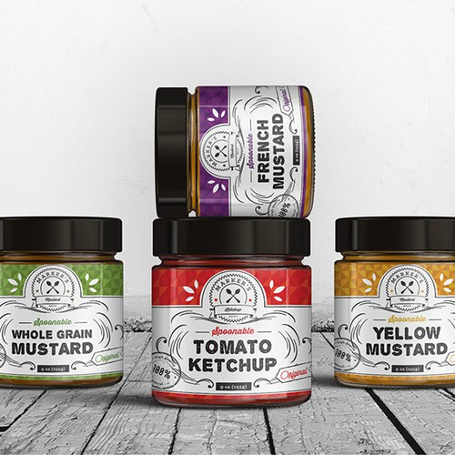 Label design for artisan condiments