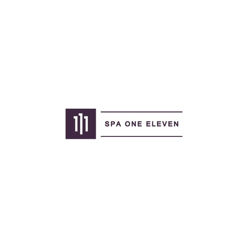 simple logo for spa one eleven