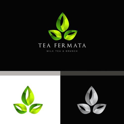 logo concept for tea