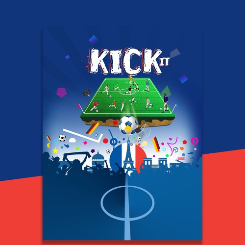 Ring binder Soccer theme