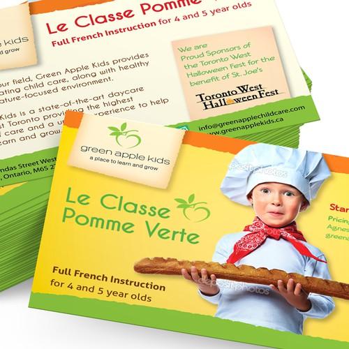 Cool Postcard for Green Apple Kids