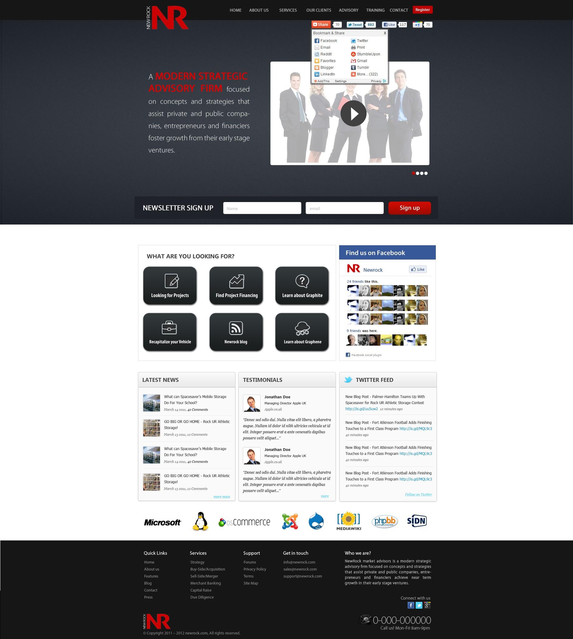 website design for NewRock