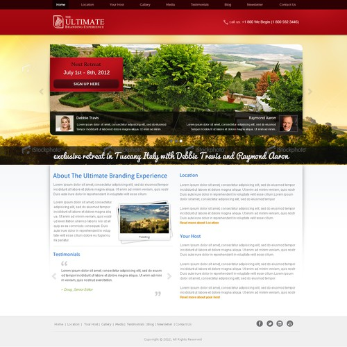 website design for The Ultimate Branding Experience