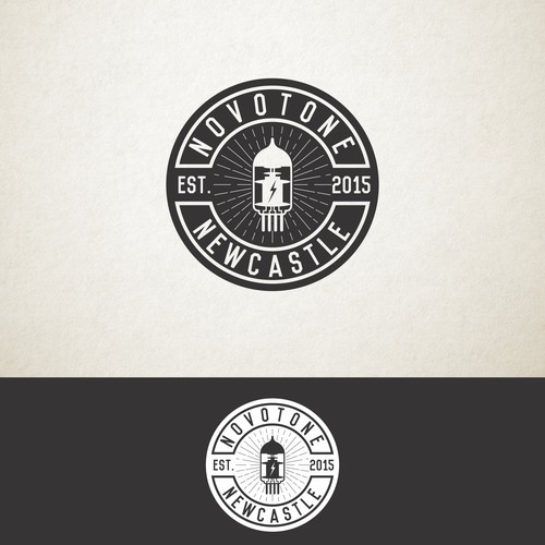 Vintage logo for music record company