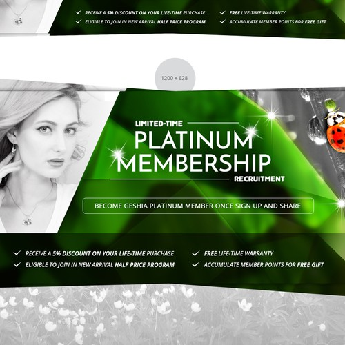 Banner ads design for jewelry online store