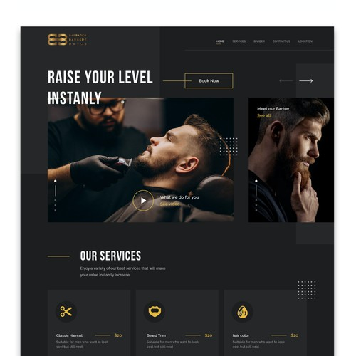 Website for Barbershop